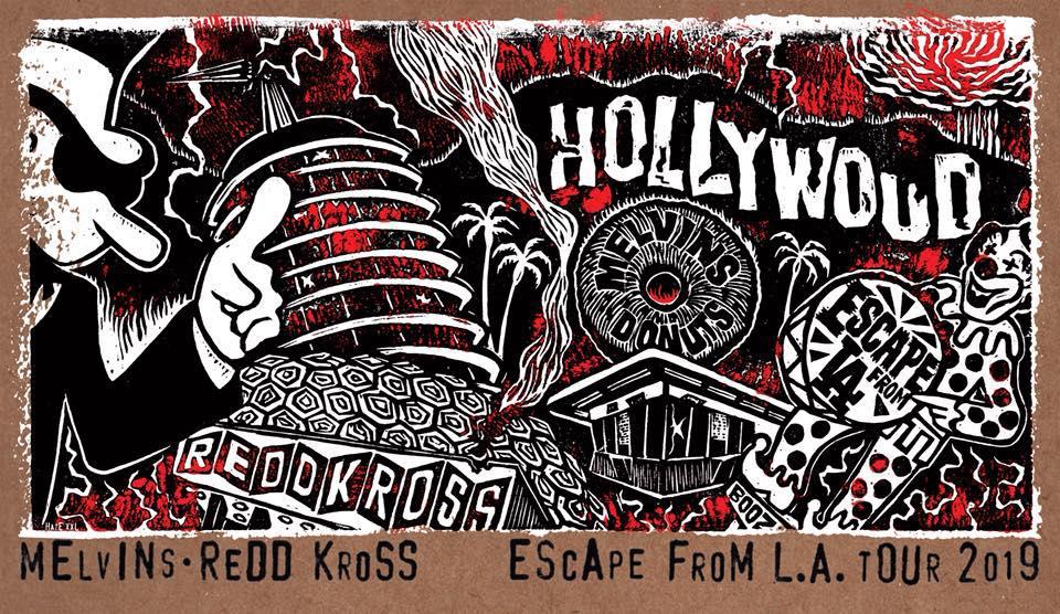 Melvins Redd Kross 2019 Tour Poster