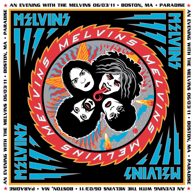 Melvins Boston Show Poster